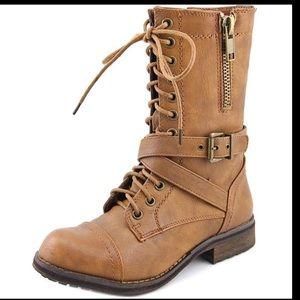 Bull Boxer justice Woman Cognac Combat Boots